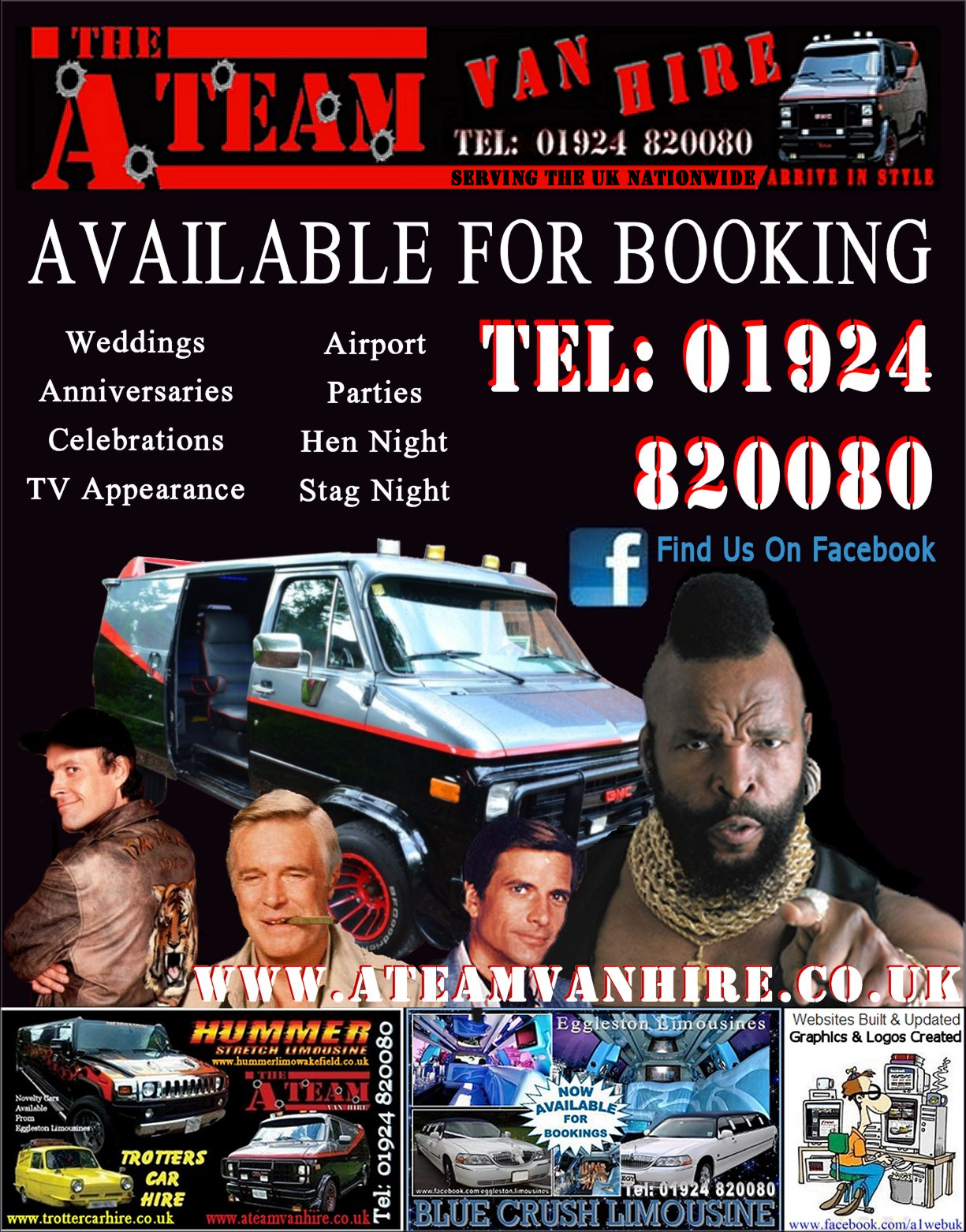 A-Team Van Hire UK. Eggleston Limousines